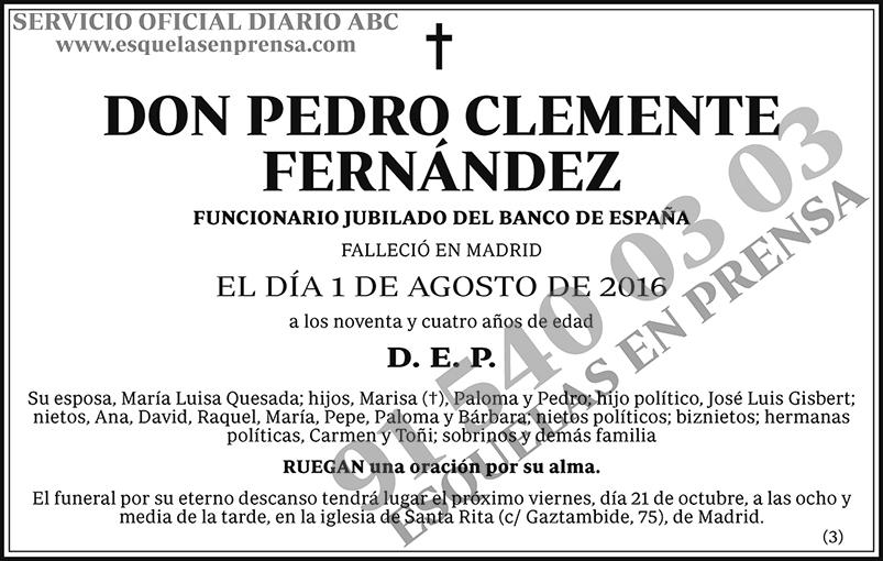 Pedro Clemente Fernández